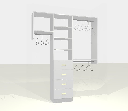 Option 3 built in closet that goes to the floor with drawers